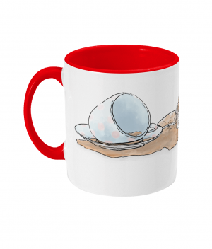 Caffeine Cat Two Tone Mug Red