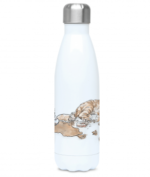 Caffeine Cat Water Bottle Front