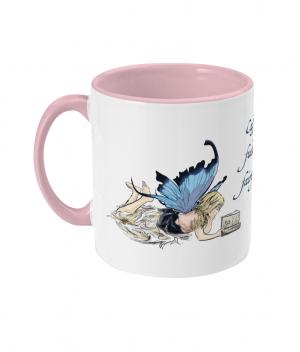 Caffeine Fuels Fairy Tales Two Tone Mug Antique Pink