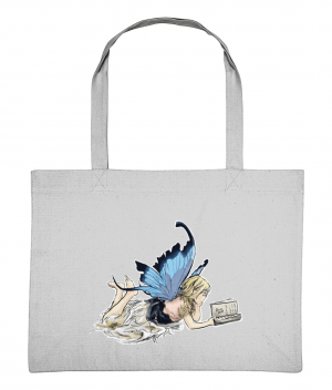 Fairy Reading Shopping Bag Heather Grey