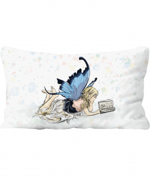 Fairy Reading Throw Cushion