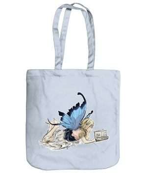 Fairy Reading Tote Bag Pastel Blue