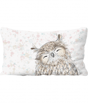 Happy Owl Throw Cushion