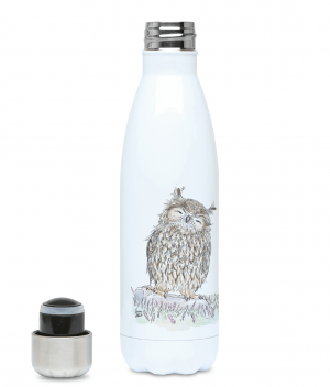 Happy Owl Water Bottle Left side