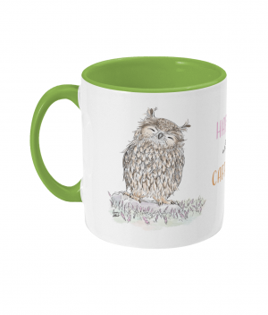 Happy With Caffeine Two Tone Mug Light Green Left side