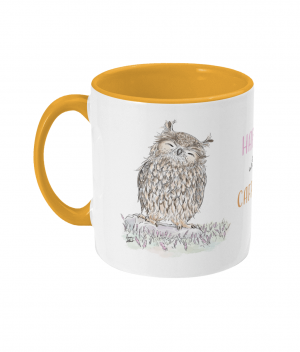 Happy With Caffeine Two Tone Mug Sunshine Yellow Left side