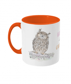 Happy with Caffeine Two Tone Mug Orange