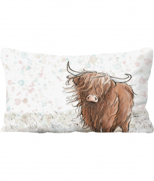 Highland Cow Throw Cushion