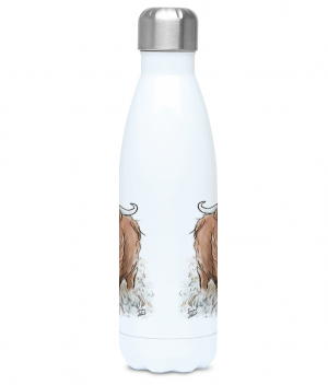 Highland Cow Water Bottle Front