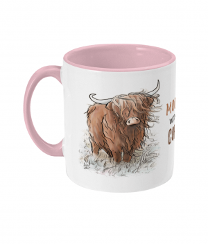 Moody Without Coffee Two Tone Mug Antique Pink
