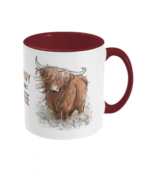Moody Without Coffee Two Tone Mug Bordeaux Red Right side