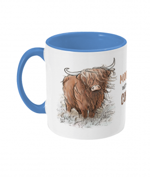 Moody Without Coffee Two Tone Mug Cambridge Blue
