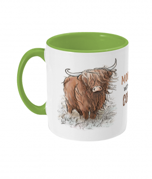 Moody Without Coffee Two Tone Mug Light Green