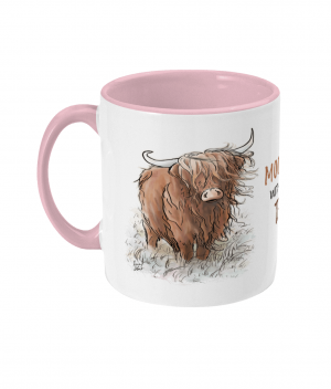 Moody Without Tea Two Tone Mug Antique Pink