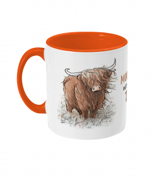 Moody Without Tea Two Tone Mug Orange