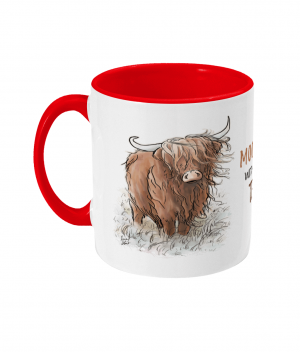 Moody Without Tea Two Tone Mug Red