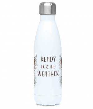 Ready for the Weather Water Bottle Front