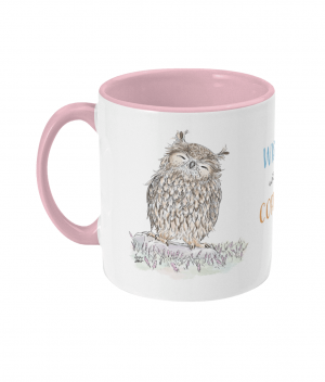 Wiser With Coffee Two Tone Mug Antique Pink