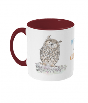 Wiser With Coffee Two Tone Mug Bordeaux Red