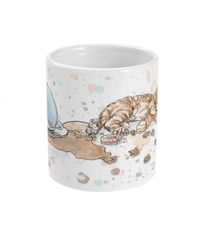 caffeine cat spotty mug front
