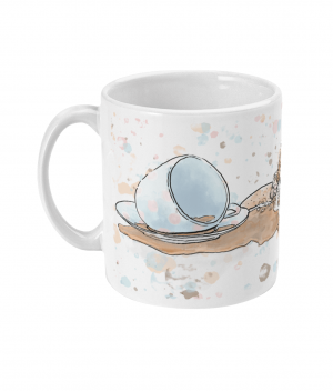 caffeine cat spotty mug left side