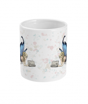 Fairy Reading Spotty Mug front