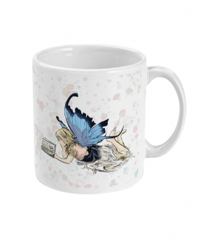 Fairy Reading Spotty Mug right side