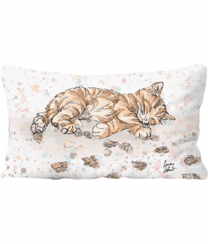 caffeine cat throw cushion